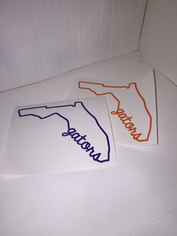 Florida State Outline Florida Gators Decal by ShopCJGDesigns