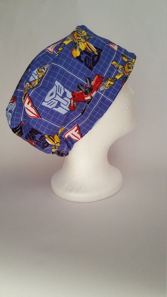 Surgical Scrub Hat Theatre Surgical Nurses  Cap by SnazzyScrubHats