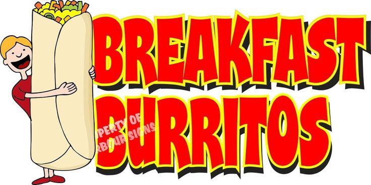 "Breakfast Burritos Restaurant Concession Food Truck Menu Vinyl Decal 14""   Business & Industrial, Restaurant & Catering, Furniture, Signs & Décor   eBay!"