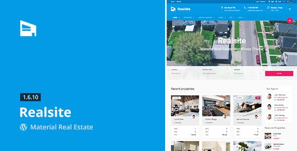 Realsite is advanced real estate WordPress theme. It is a result of years of development in real estate industry. Realsite WordPress Theme For Free Download
