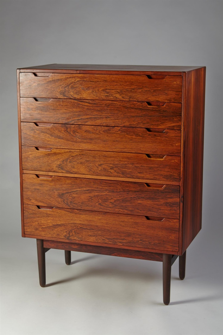 Svend Langkilde; Rosewood Chest of Drawers for Langkilde Möbler, 1960s.