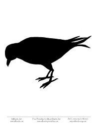 crow silhouette templates    http://www.milliande-printables.com/Bird-Silhouette-Stencil-Templates-Crow.html