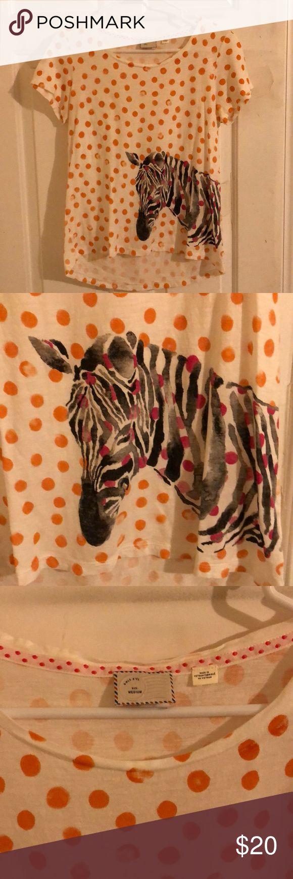Anthropologie-Oberteil mit Zebras und Tupfen Wenn Sie Tupfen und Zebras lieben, d …   – My Posh Closet