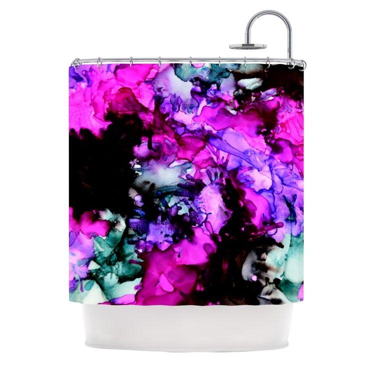 """Kess InHouse Claire Day """"Siren"""" Pink Purple Shower Curtain"""