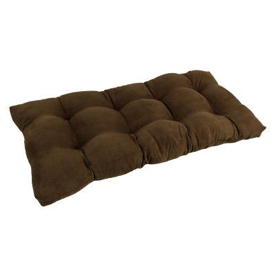Blazing Needles Microsuede Indoor Bench Cushion Chocolate - 94006-LS-MS-CH, Durable