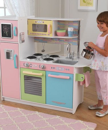 Love this Pastel Uptown Kitchen Set on #zulily! #zulilyfinds