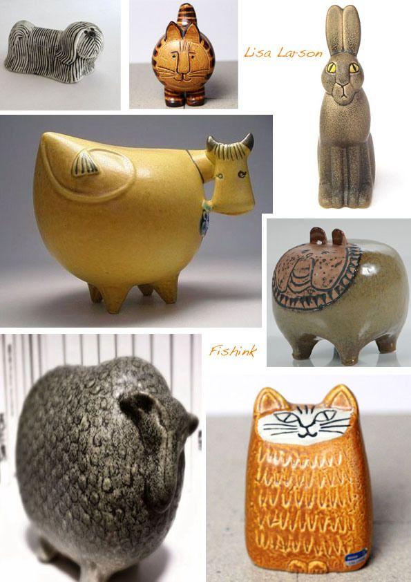 Lisa Larson, Swedish Ceramic Designer.   Fishinkblog's Blog