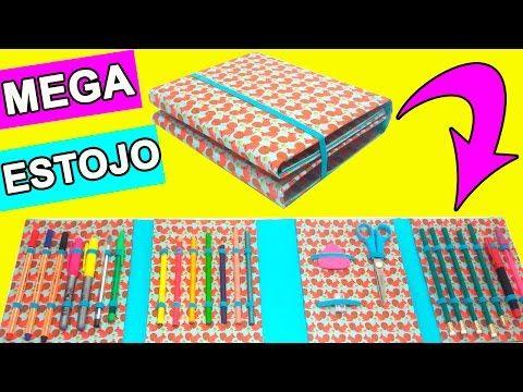 Estojo feito de Papelão - Material Escolar - DIY - Segredos de Aline - YouTube