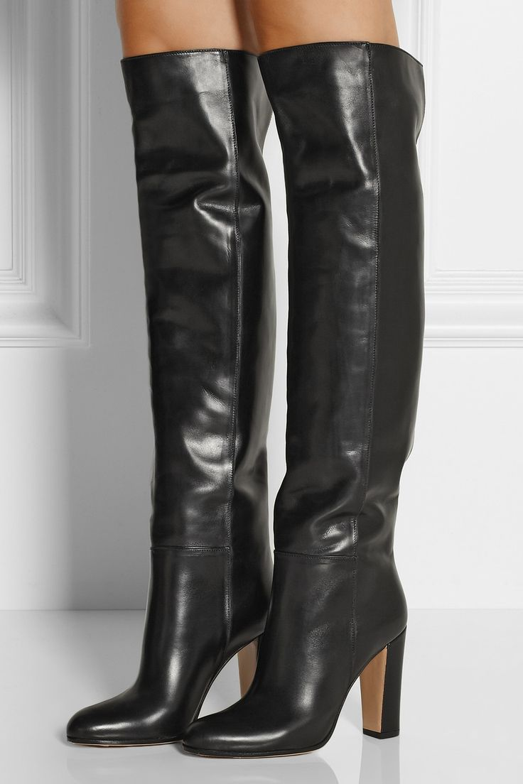 Gianvito Rossi|Leather knee boots|NET-A-PORTER.COM