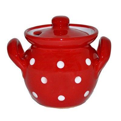 Piros-fehér pöttyös mézesbödön - 2.000 - 3.000 Ft - Konyhai kiegészítők, Bonbon formák, Szilikon formák, Kiszúrók - GasztroShop.hu
