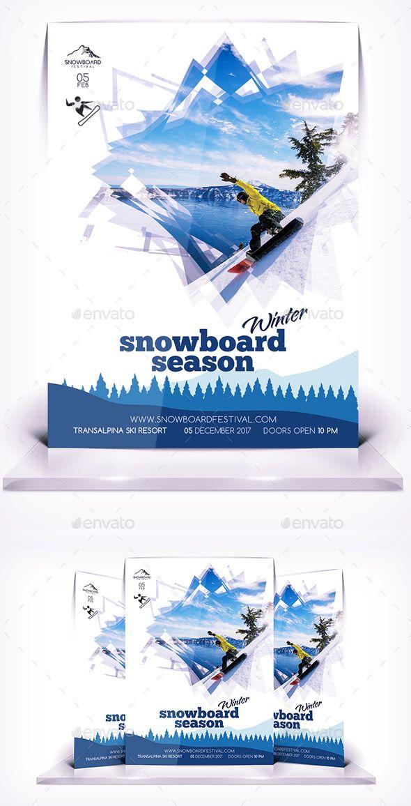 Sbowboard Season Flyer - Flyers Print Templates