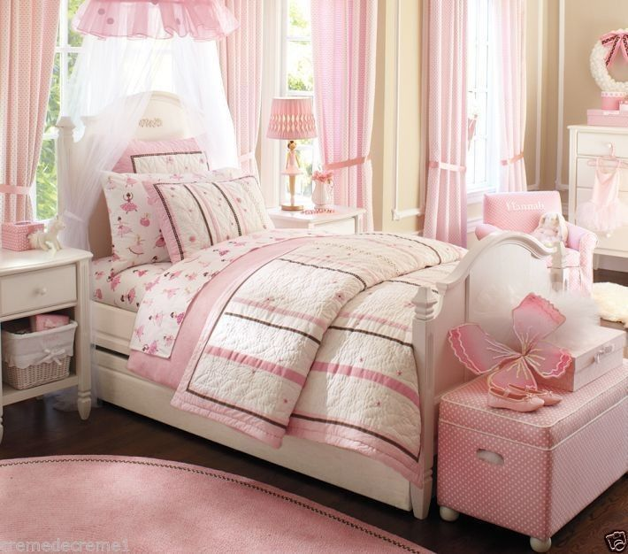 love the decor of this girls bedroom