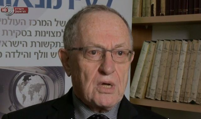 """Constitutional scholar Alan Dershowitz says the Supreme Court's Jerusalem passport case ruling is a """"misreading of the Constitution"""" and American history. (Screenshot: Israel Broadcasting Authority-IBA)"""