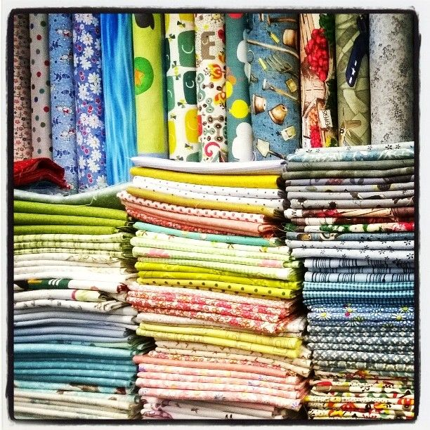 went fabric shopping at Cowslip Workshops in Launceston, Cornwall,