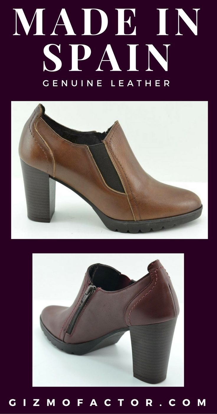 Leather booties 100% made in Spain - Free shipping bother ways - Ships fast: