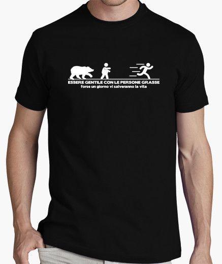 T-shirt Essere gentile con le persone grasse (scuro)