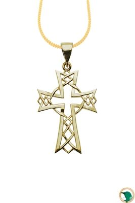 9ct yellow gold Celtic cross pendant