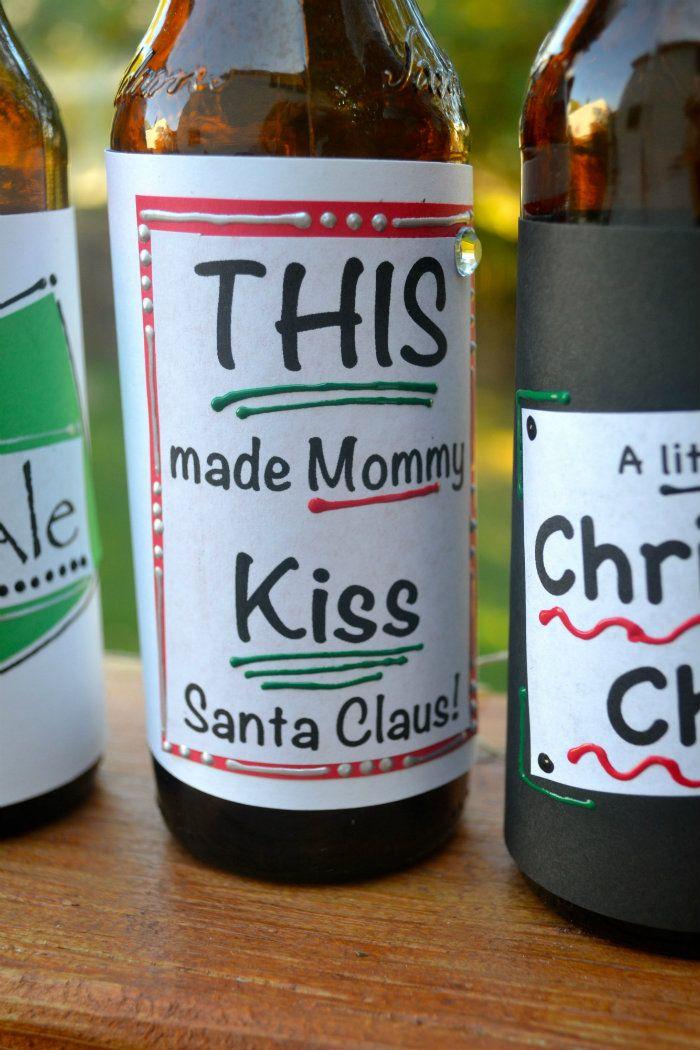 Make Homemade Christmas beer labels:)