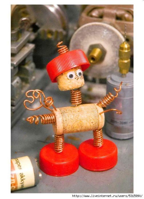 Детские поделки робот - Сами своими руками