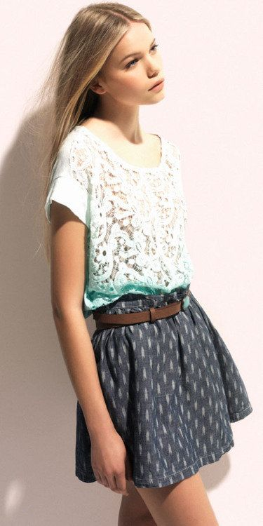 ombre top and skirt
