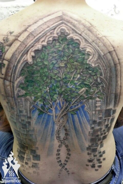 Tree of life - gotic backpiece tattoo