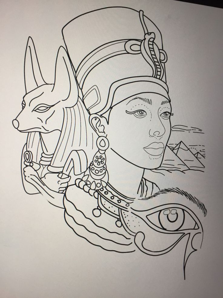 Egyptian tattoo design by Amanda Creek tattoo Artist in Oak Harbor Washington