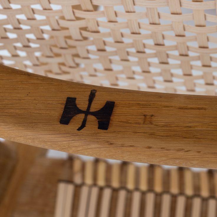 """Johannes Hansen stamp on """"The Chair"""" by Hans J. Wegner"""