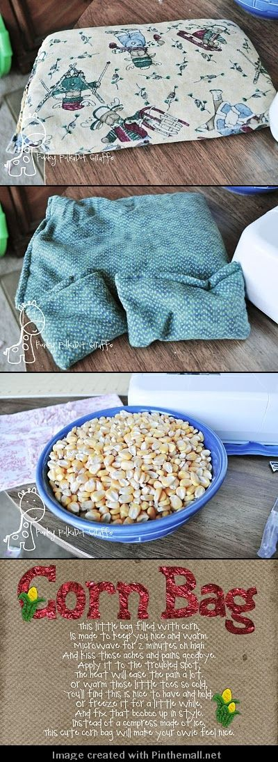 Why corn instead of rice or beans? Corn stays cleanest the longest, won't have problems with humidity, mold and mildew and generally won't provoke allergies. (Heat large bags (10x13) approximately 2-3 minutes. Small bags (8x10) & Neck wraps approximately 2 minutes. Increase duration for 30 seconds at a time if needed. Suggested heating times are approximate only, microwave oven temperatures will vary.)