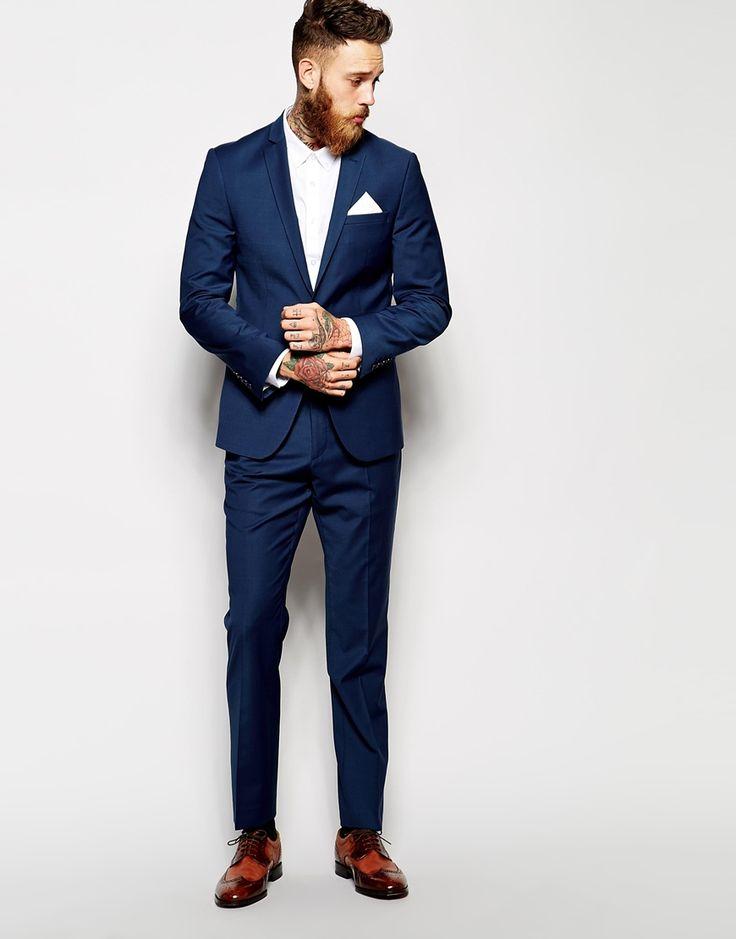 Veste de costume cintrée - Bleu marine