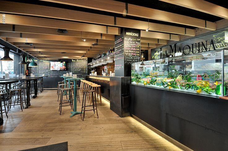 La barra del restaurante de La Máquina de Chamberí