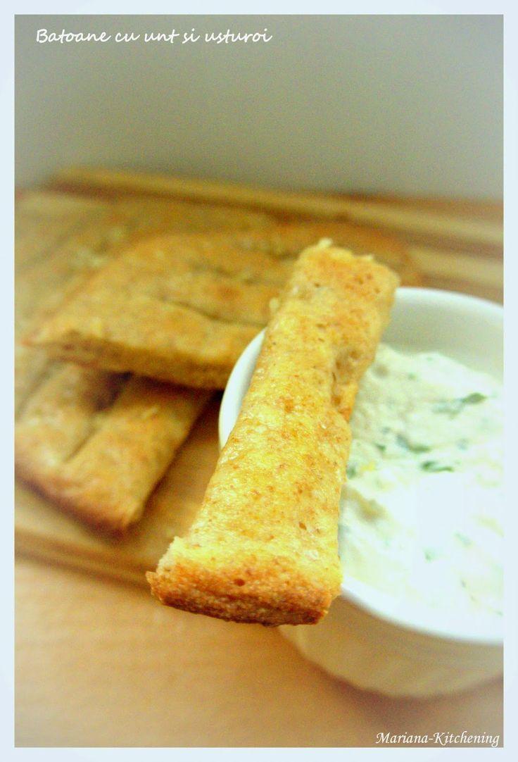 Kitchening: Uscățele cu maia: grisine cu sare și paprika iute ...Sourdough grissini & sticks
