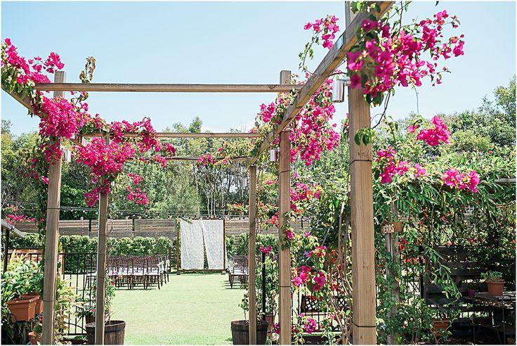Osteria Casuarina Wedding Ceremony   The pretty garden at Osteria #wedding #ceremony #garden