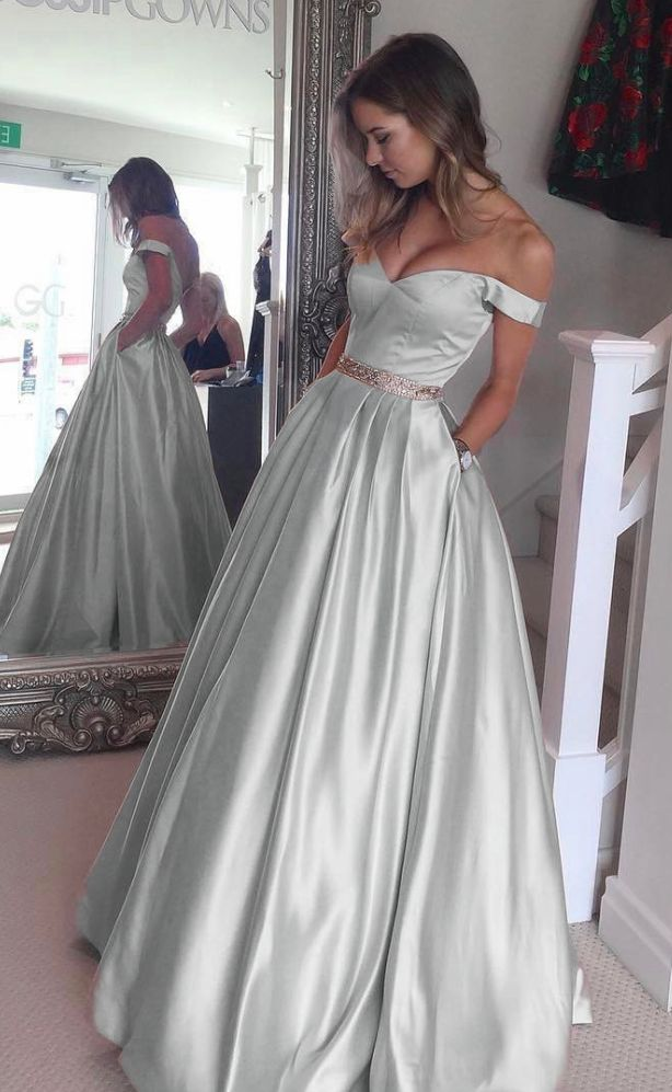 Sweetheart Prom Dresses,Off The Shoulder Gowns,Ball Gowns Prom