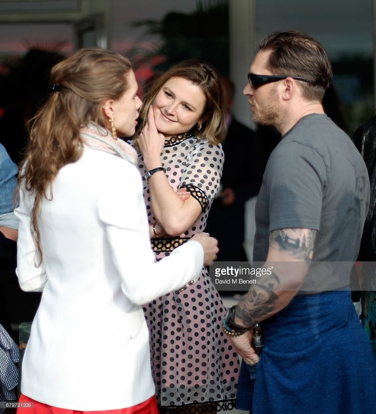 Guest, Amber Atherton and Tom Hardy attend the Audi Polo Challenge at Coworth Park on May 6, 2017 in Ascot, United Kingdom.