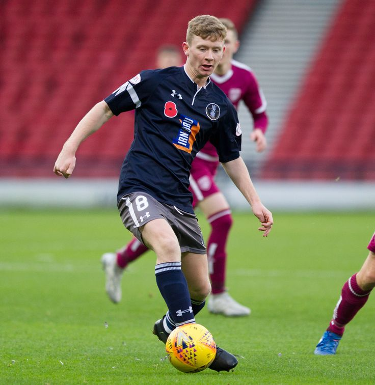Queen's Park's Dominic Docherty in action during the SPFL League One game between Queen's Park and Arbroath.