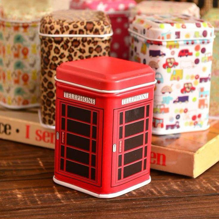 4.3*4.3*6.5cm Mosunx Business Metal Candy Trinket Tin Jewelry Iron Tea Coin Storage Square Box Case