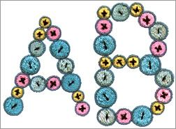 Buttons Monogram Set