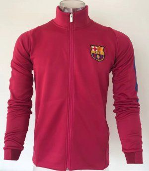 Barcelona 2017-18 FCB Red Sweater Jacket [L322]