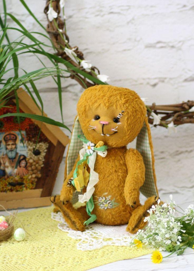 Пасхальный кролик в технике Тедди