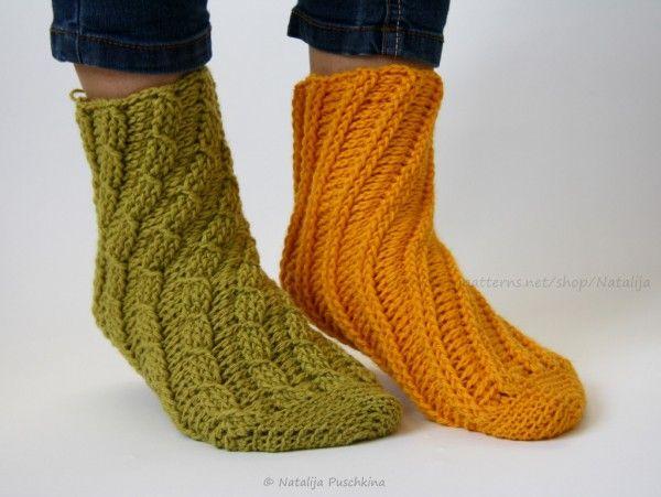 Socken häkeln ohne Ferse - Spiralsocken für Erwachsene und Kinder