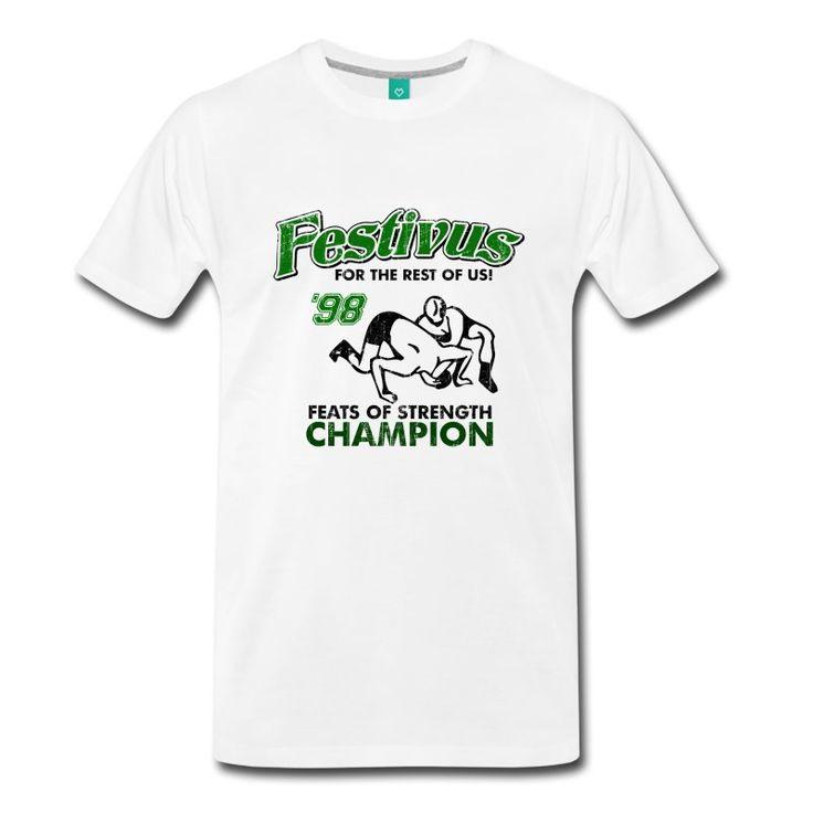 Natural Seinfeld Festivus Costanza T-Shirts - Men's Premium T-Shirt