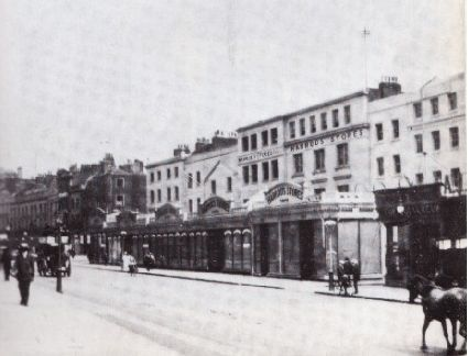 Harrods in 1892. In 1834, Charles Henry Harrod set up wholesale grocer in Stepney, in London's East End; with a special interest in tea. In 1849 he took over a small shop in the new district of Knightsbridge (the store's current site) to escape filth of inner city, and to capitalize on trade to the Great Exhibition of 1851 in nearby Hyde Park.