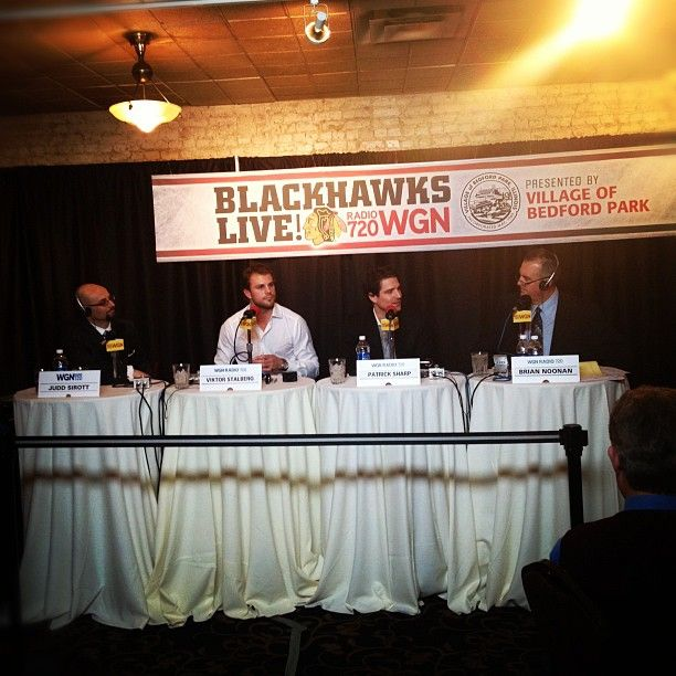 Chicago Blackhawks Live at Harry Caray's Italian Steakhouse in Chicago with Viktor Stalberg and Patrick Sharp!