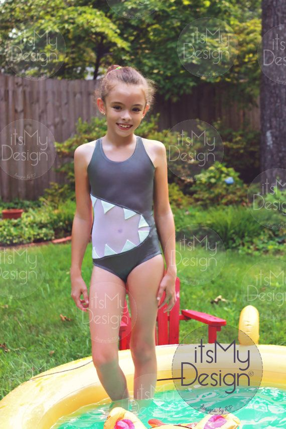 Girls Shark Swimsuit Sharkini Sharkbite Racerback One