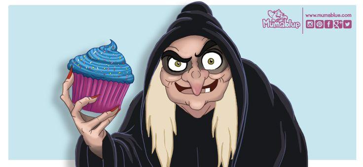 La bruja mala deBlancanievesreconoce que va a cambiar las manzanas envenenadas por magdalenas, porque así es más fácil engañar a los niños.