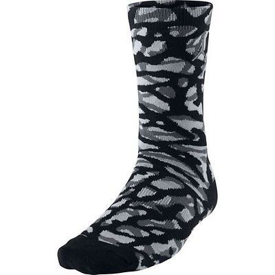 NWT Jordan Elephant Camo Mens Socks Black/Dark Grey/Wolf Grey 716855-011 SZ 8-12 #Clothing, Shoes & Accessories:Men's Clothing:Socks ##nike #jordan #girls $10.00