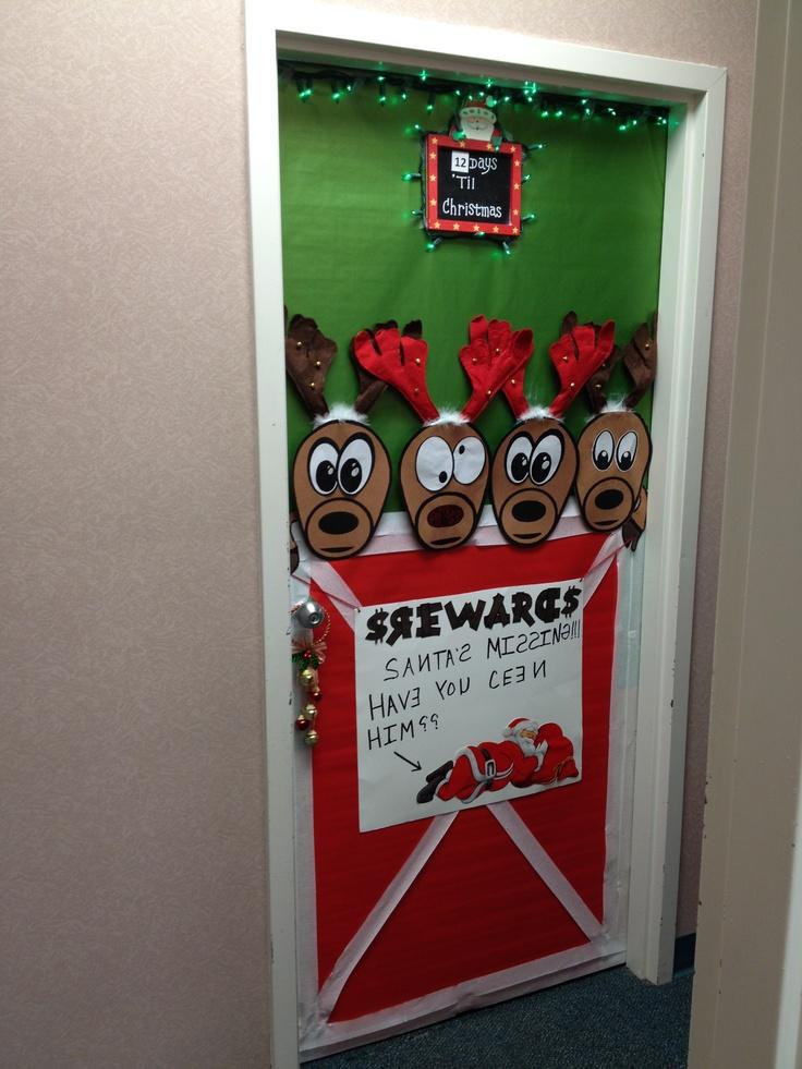 Christmas Reindeer Door Decoration Holidays Christmas
