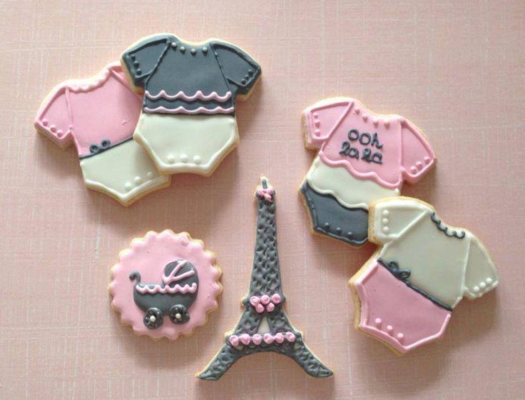 Paris Themed Baby Shower Sugar Cookies By SweetestMomentsNJ, $36.00