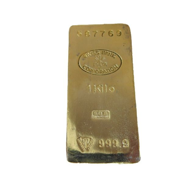 Gold Bar Paperweight 1 Kilo Swiss Bank Corp Nothing Feels Like Real Gold Ebay In 2020 Gold Bar Gold Ounce Real Gold