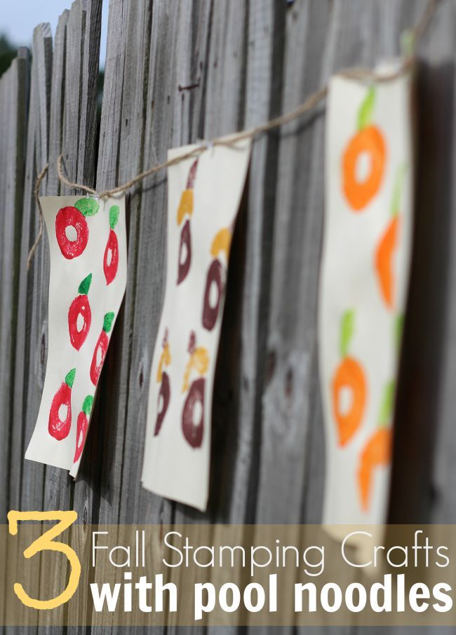 3 Fall Stamping Crafts With Pool Noodles 5 More Craft